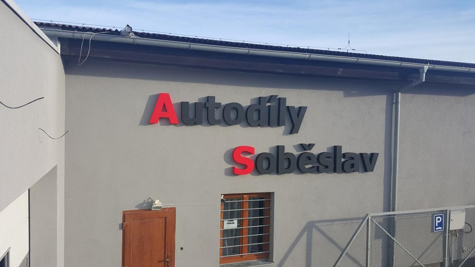 3D nápis Autodíly Soběslav