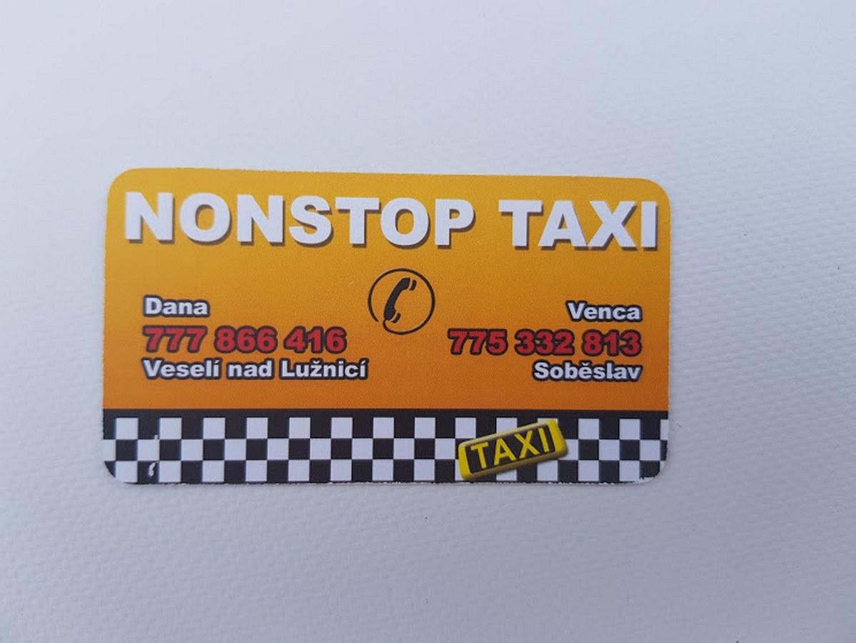 Grafický návrh a tisk vizitek pro taxi