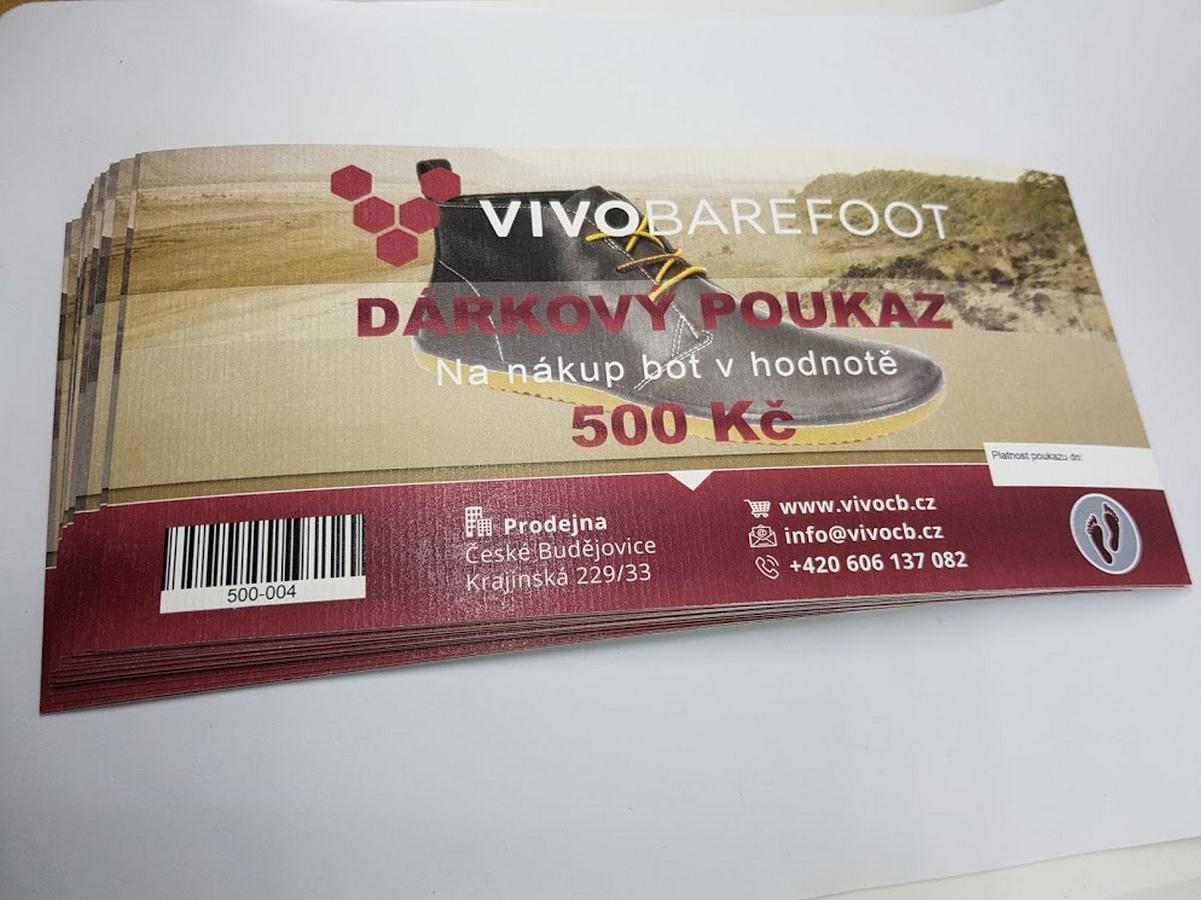 Dárkový poukaz Vivobarefoot
