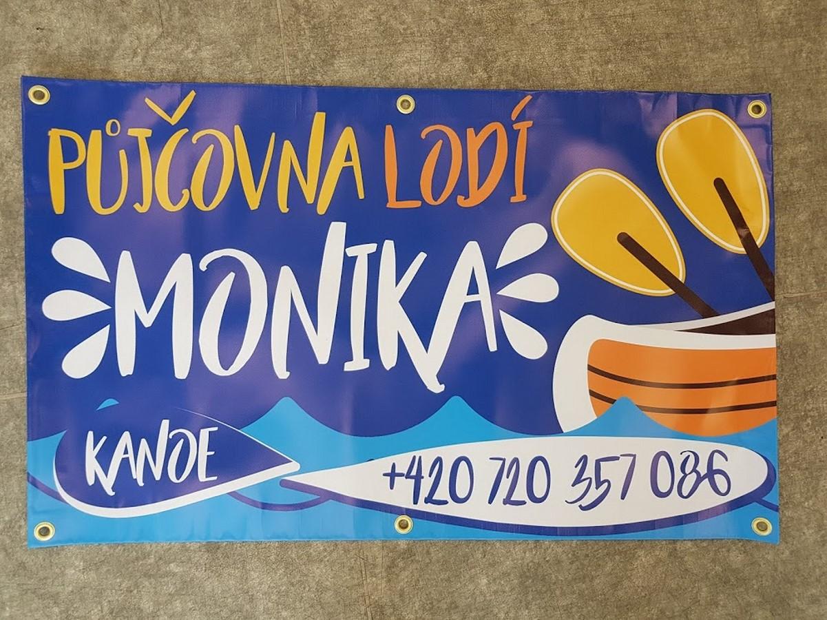 Banner  půjčovna lodí Monika