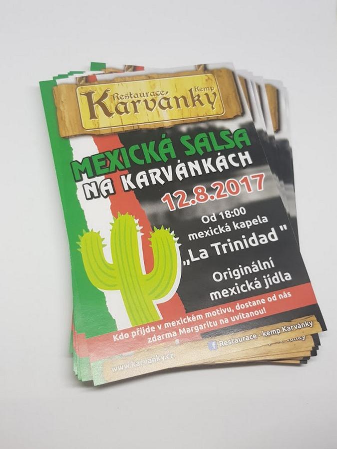 "Reklamní leták ""Mexická salsa"""