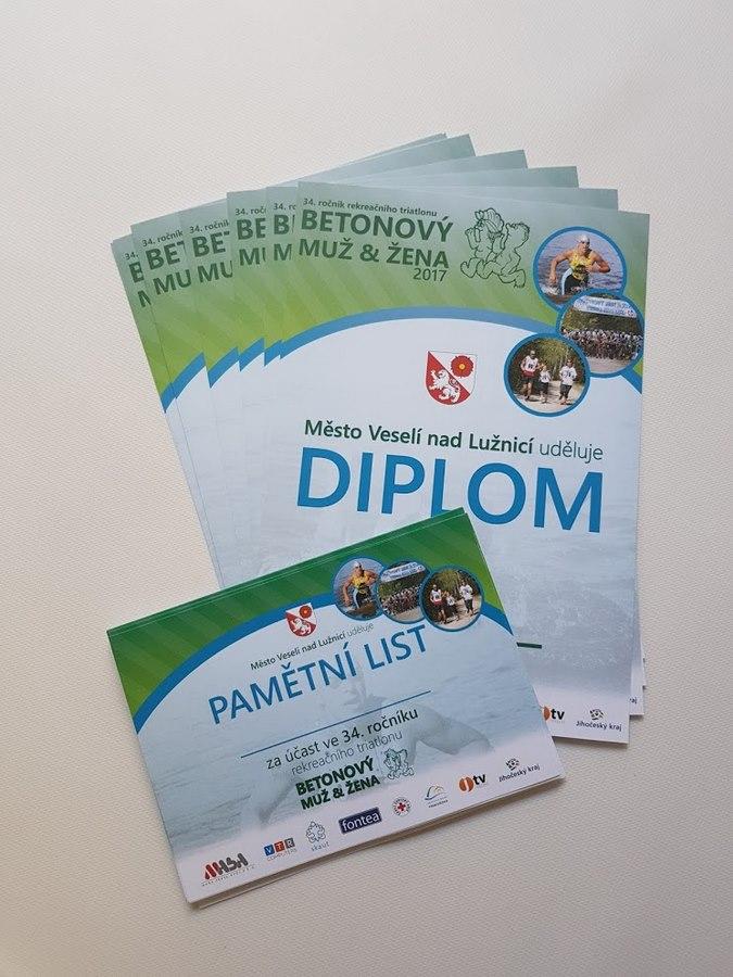 Diplom + pamětní list