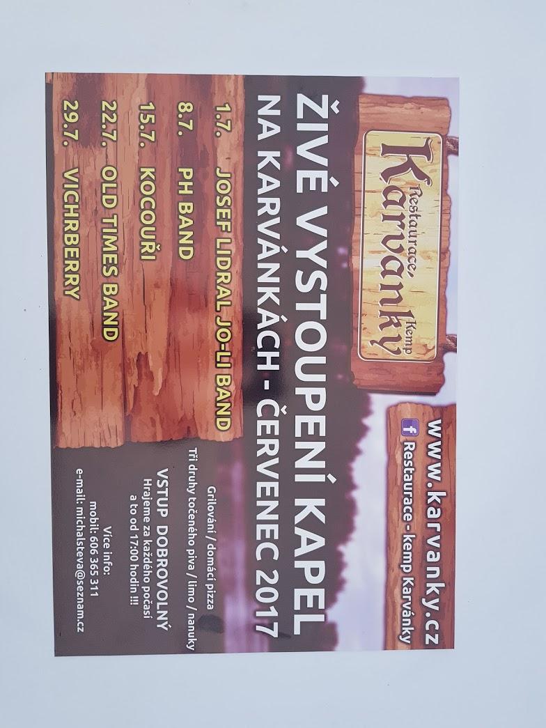 Plakát s programem - Karvánky