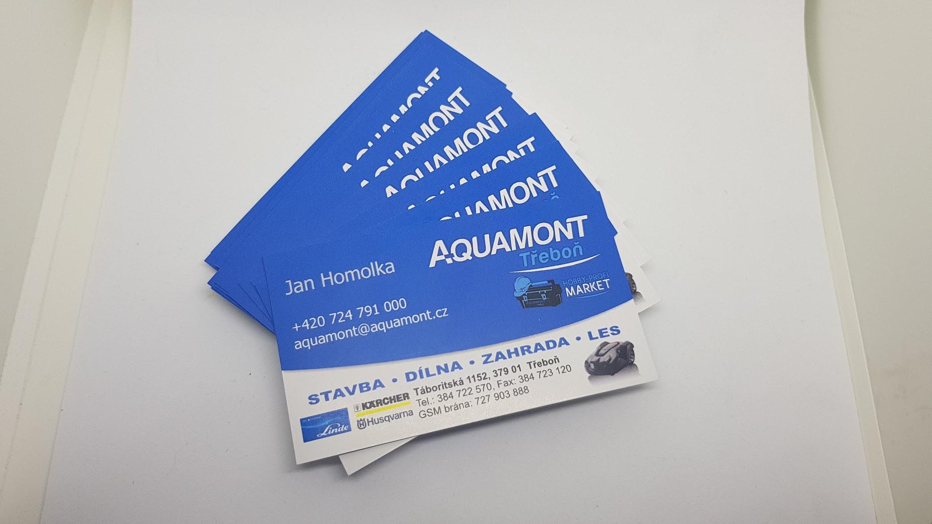 Vizitka Aquamont Třeboň