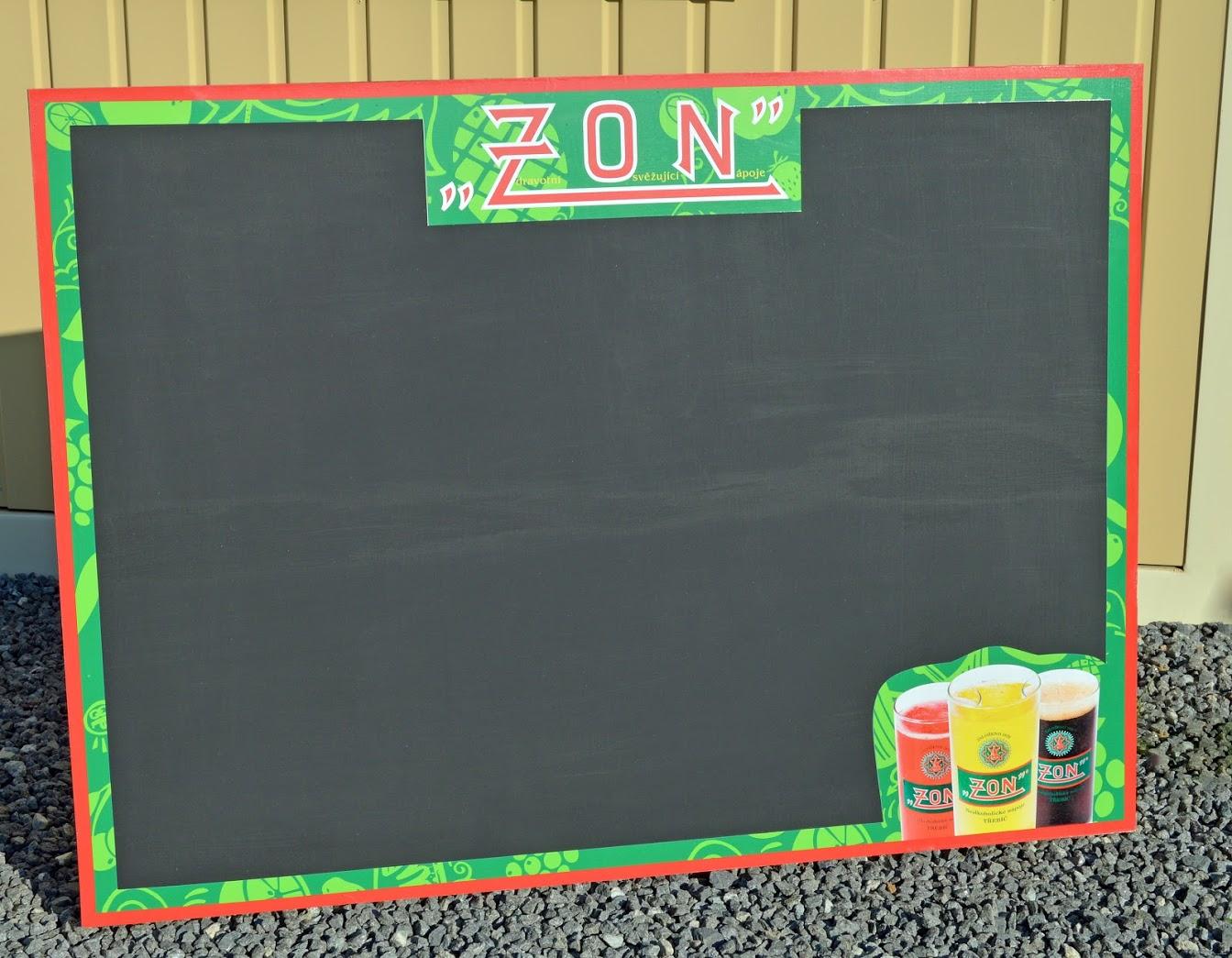 Křídová tabule na ledničku ZON