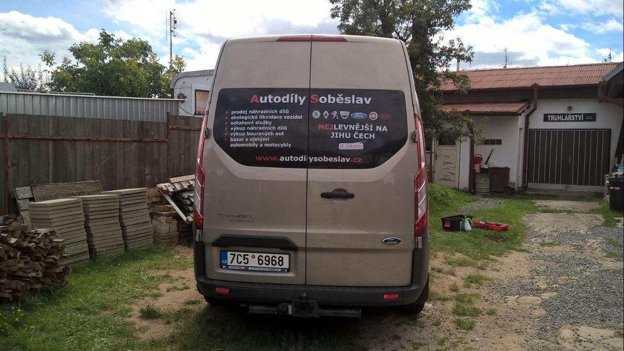 Polep Ford Custom - Autoservis Milan Vaněk
