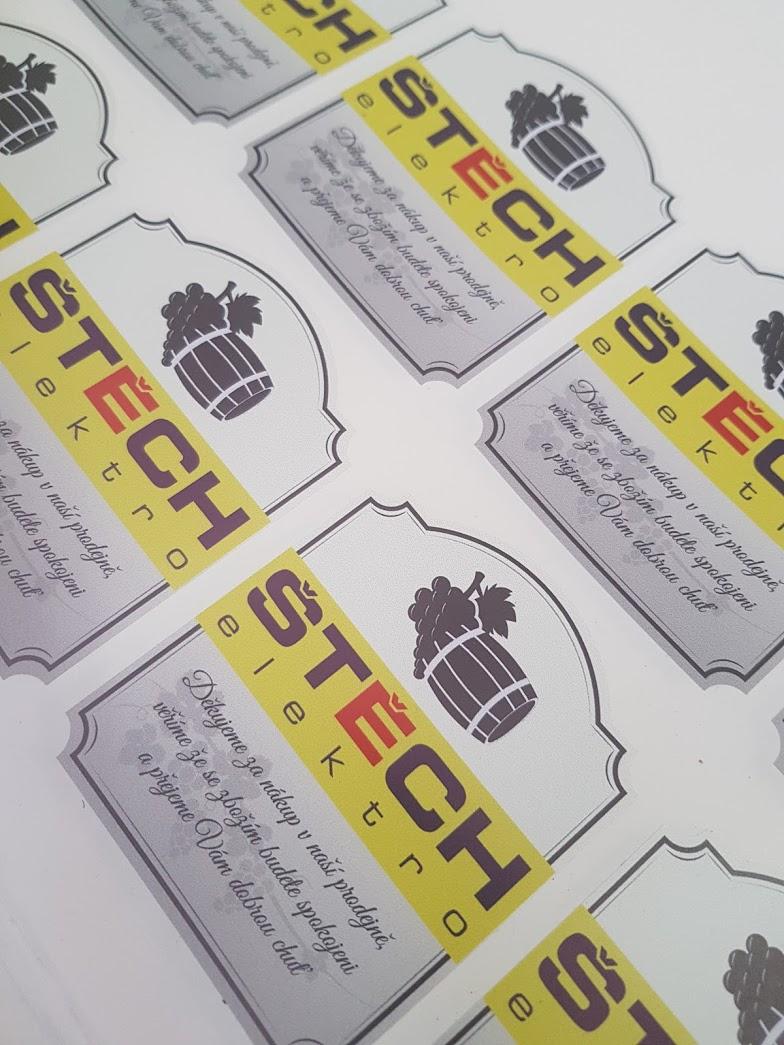 Etikety na lahve pro Elektro Štěch