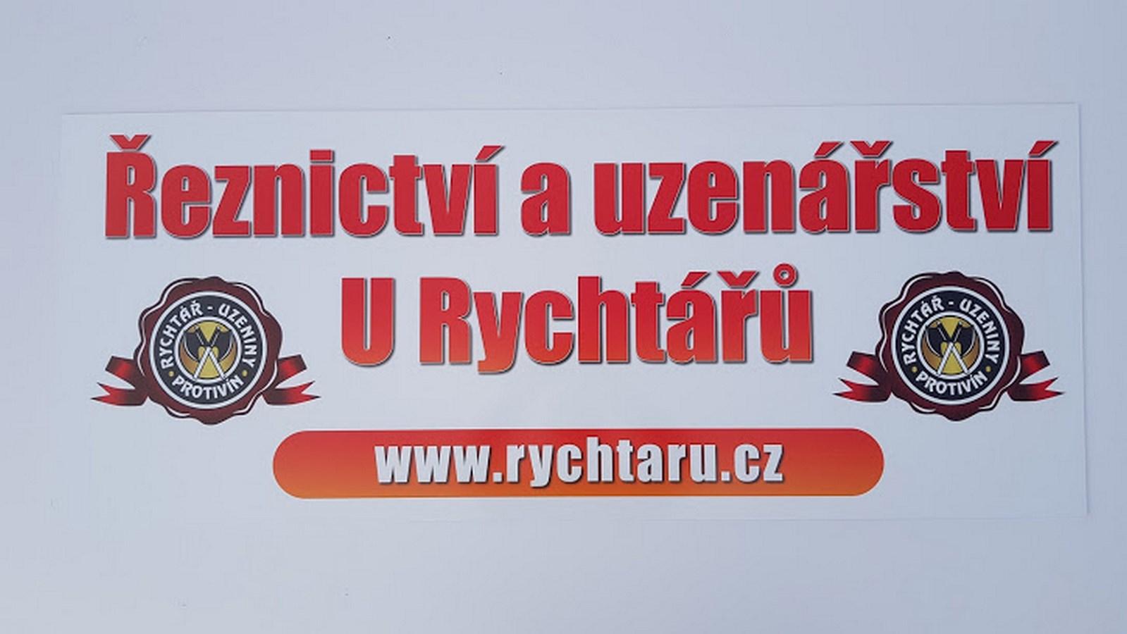 2bf6c4caf49 Reklamní deska - řeznictví a uzenářství U Rychtářů