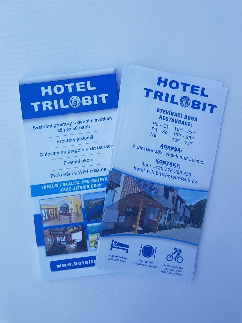 Letáček C sklad hotel Trilobit