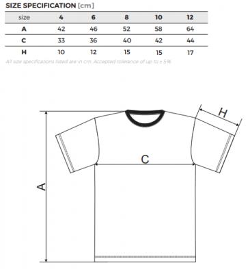 Dětské velikosti triček