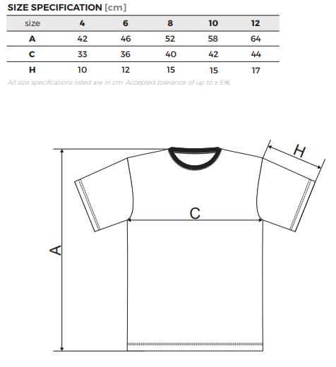 Tabulka velikostí dětských triček