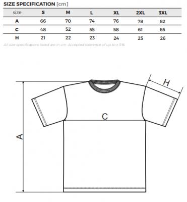 Pánské velikosti triček