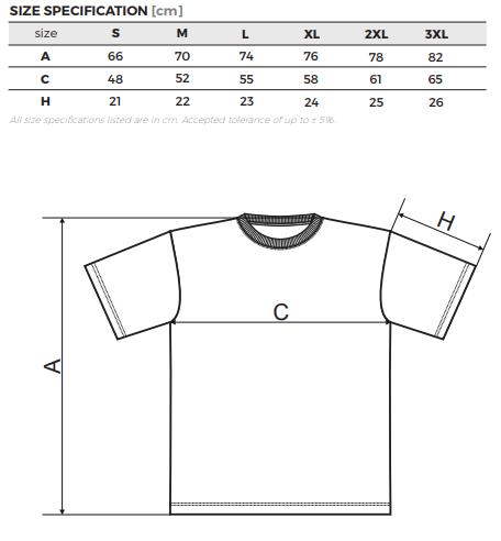 Tabulka velikostí pánských triček