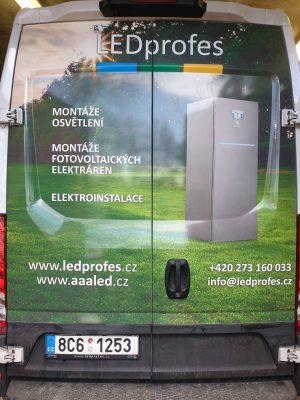 Polep dveří auta reklamou ledprofes